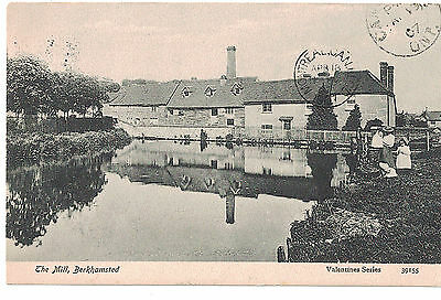 Antique 1907 Valentines Series Uk England Postcard The Mill : Berkhamsted