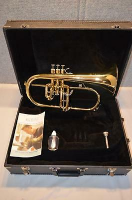 "New - Blessing Flugelhorn Bfh-1541 With Case And Mouthpiece - .460"" & 6"" Bell"