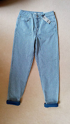Topshop Gingham Mom Jeans - W28 - L34 - Bnwt - £40.
