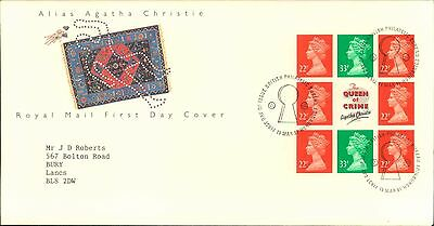 Alias Agatha Christie Royal Mail First Issue Stamp 1St Day Cover Block