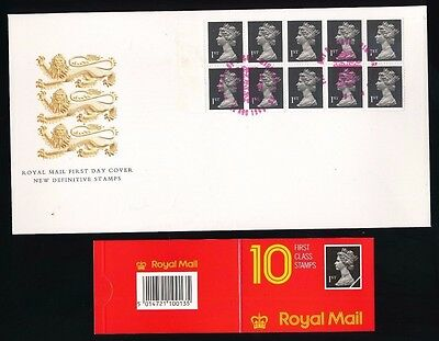 Definitive - 1st Class Booklet - Windsor...1989 FDC First Day Cover...Fast Post