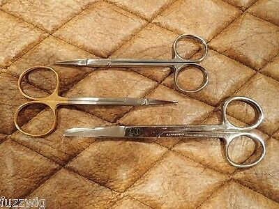 Surgical Dissecting Scissors Small Stainless Cleaning Tray with lid 5 pieces
