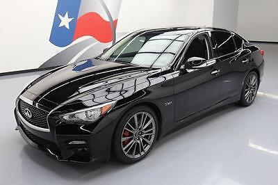 2017 Infiniti Q50  2017 INFINITI Q50 RED SPORT 400 HTD LEATHER SUNROOF NAV #850469 Texas Direct