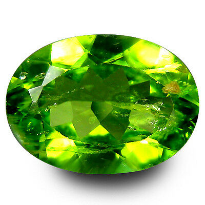 4.10 Ct Remarkable Fire Oval Cut 12 x 8 mm UnHeated Green Peridot Gemstones