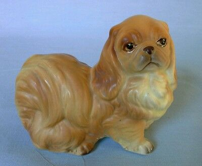 Vintage Japan Porcelain Ceramic Pottery Adorable Pekingese Dog Figurine