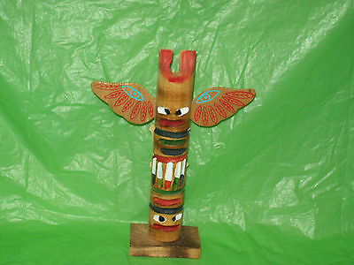 """8 1/2"""" Totem Pole  made by :: The Cherokees Qualla Reservation"""