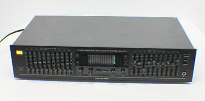 BSR EQ-3000 10-Band Stereo Frequency Equalizer & Spectrum Analyzer