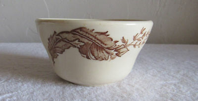 Vintage Iroquois China Restaurant Bowl Cup Brown Leaves Design Code P.R.C-1