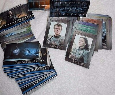 Game Of Thrones Season Six 100 Base Card Set With Empty Wrapper