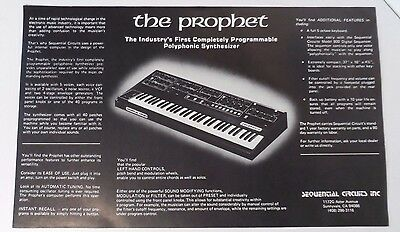 Sequential Circuits - The Prophet Synthesizer -  Large Advertising Flyer