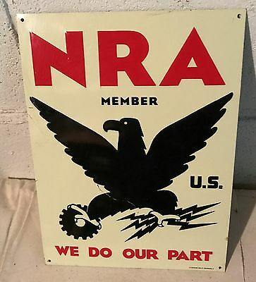 NRA Metal Sign US Member National Recovery Act Desperate Sign Co.