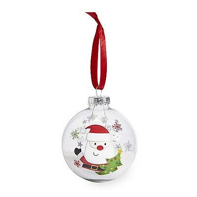 """Koala Baby """"Baby's First Christmas 2016"""" Red Santa Claus Glass Ball Ornament"""