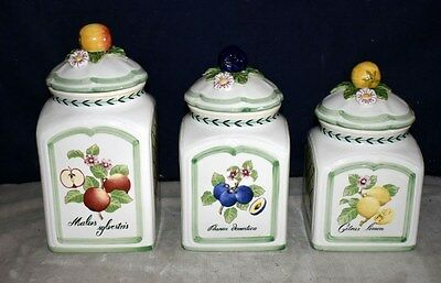 Best! Villeroy & Boch French Garden Charm - Faience Ceramic Canister Set