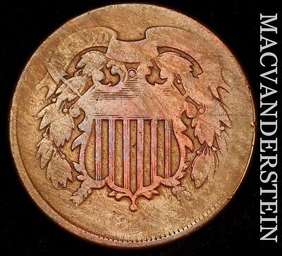 1864 Two Cent- Scarce !! Better Date !!  #u210