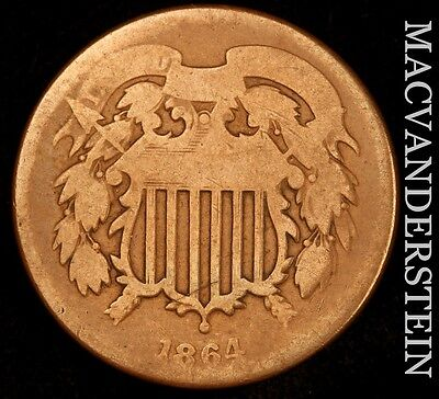 1864 Two Cent- Scarce !! Better Date !!  #u211