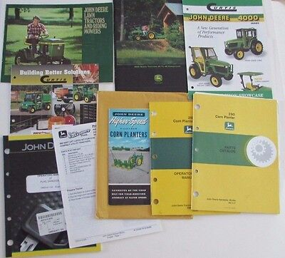 Lot John Deere Sales Brochures Corn Planter Manual Lawn 4000 Tractor