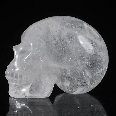 "1.5"" Natural Clear Quartz Crystal Hand Carved Skull/Head,Reiki Healing#24A35"