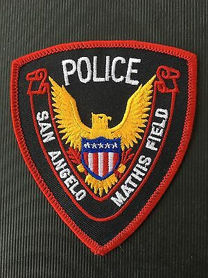 San Angelo Mathis Field Texas Police  Shoulder Patch