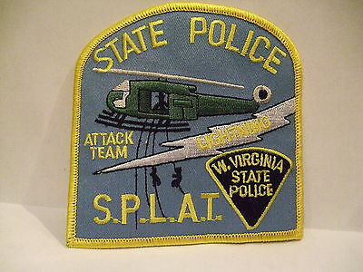 police patch  WEST VIRGINIA STATE POLICE S.P.L.A.T. ATTACK TEAM