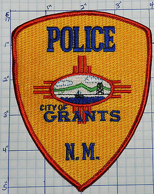 New Mexico, Grants Police Red & Yellow Patch