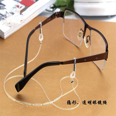 Clear Eyeglass Cord Reading Glasses Eyewear Spectacles Chain Holder Elastic