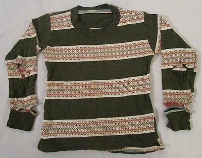 VINTAGE DESTROYED 1940's - 50's STRIPED FARM WORK THIN SWEATER SHIRT