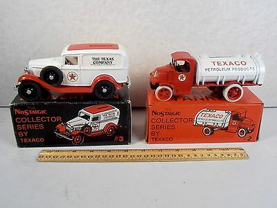 1985 & 1986 Texaco 2 Collector Truck Lot *1926 Mack Tanker & 1932 Ford Delivery