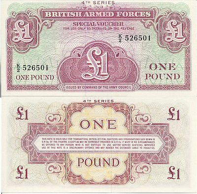 UK/British Armed Forces 1 Pound Note 4th Series (1962) - Perfect UNC!