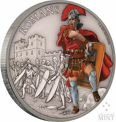 2017 Niue -  Warriors Of History - Romans 1 oz Coin