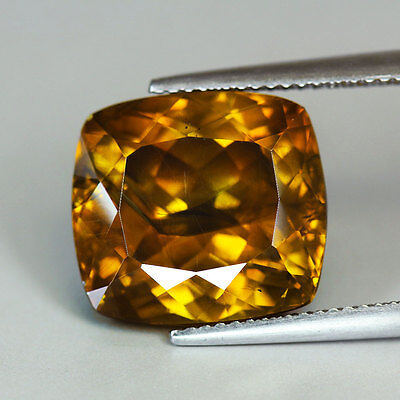 "18.59cts""Spain"" Multi-Color ""Cushion Cut"" Rare Natural Sphalerite"" PR401"