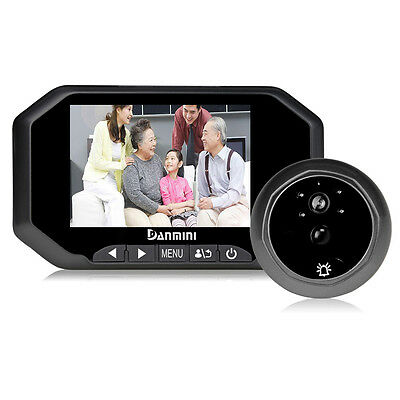 """3.5"""" 160 Degree Home Security Door Viewer Wide Angle Spy Peep Hole LCD Camera BL"""