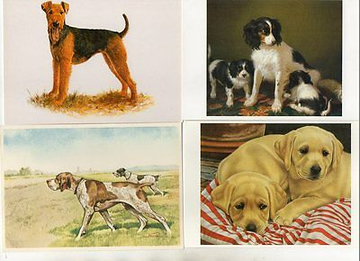 27 ART & COMIC postcards of DOGS