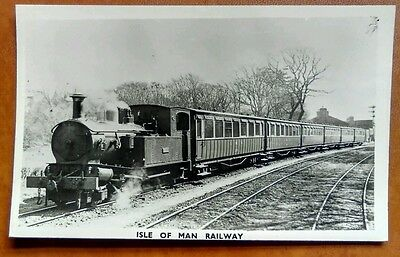 Isle of Man Railway Steam Train Real Photo c1960s by Ranscombe Photos