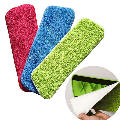 Microfiber Home Floor Cleaning Replacement Pad Spray Water Spray Flat Dust Mop