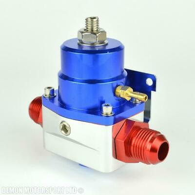 AN10 (JIC -10) Fuel Pressure Regulator Blue With 10AN Fittings 7 Bar 1:1
