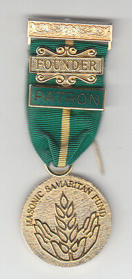 East Lancashire New Masonic Samaritan Fund Jewel with Founder and Patron Bars