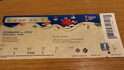 Ticket Fifa Confed Cup 2017 Match 08 Deutschland - Chile  (mint )
