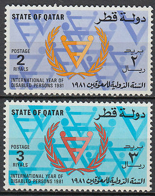 Qatar 1981 ** Mi.798/99 Behinderte Year of Disabled Persons