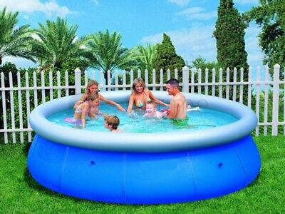 "Easy Fast Set 12ft x 30"" 10'foot Family Swimming Paddling Pool Garden Outdoor"