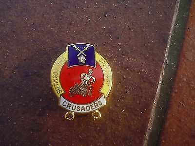 Sittingbourne Red/yellow Design    Speedway Badge   Mint  Con In Gold