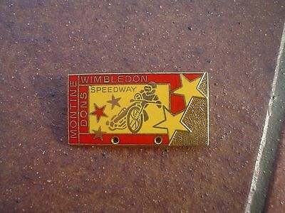 Wimbledon Montine Dons     Speedway Badge   Mint  Con In  Gold
