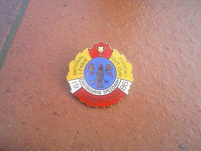 Eastbourne 1986 Champions  Large   Speedway Badge   Mint  Con In  Gold