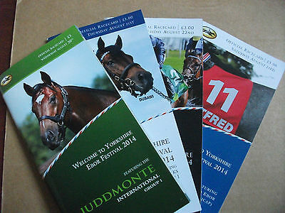 York Race Cards - 2014 Ebor Festival All 4 Days - Juddemonte & Australia