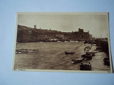 Peel Harbour - Isle Of Man Postcard -