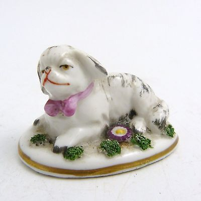 19Th Century English Porcelain Figure Of A King Charles Spaniel