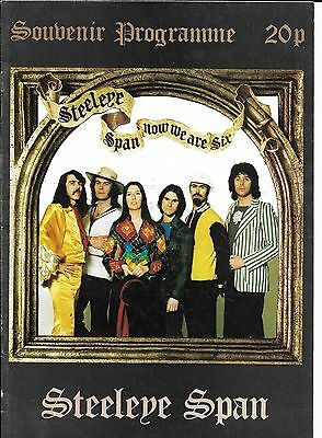 Steeleye Span Tour Programme 'Now we are Six' 1974