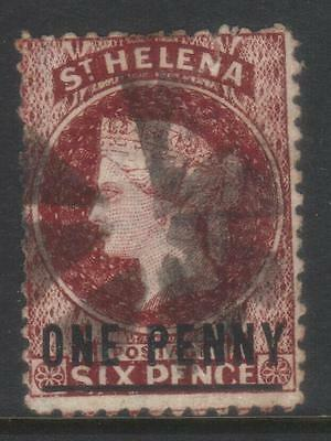 St Helena 1864-1880 Surch Sg8 Used Cat £17