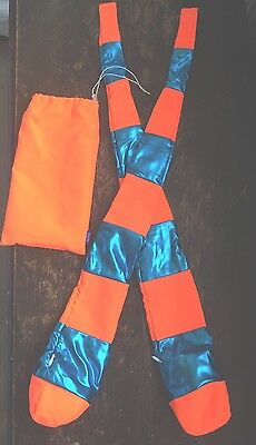 Sonic Stars Quality Sock Poi Neon Orange And Shiny Blue New With Bag