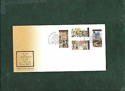 Singapore 1995 Anniversary of end of WW2 set on illustrated First Day Cover FDC