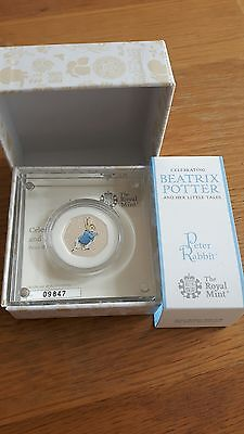 2  #BEATRIX POTTER PETER RABBIT NEW 2017 Coloured Silver Proof 50p Coin